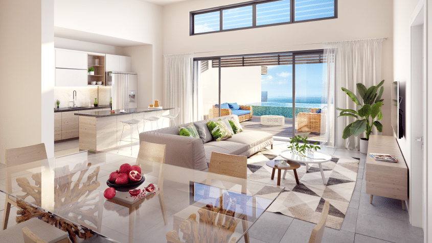 les jardins d'athena penthouses appartement tamarin ile maurice sublime somptueux vue sur mer