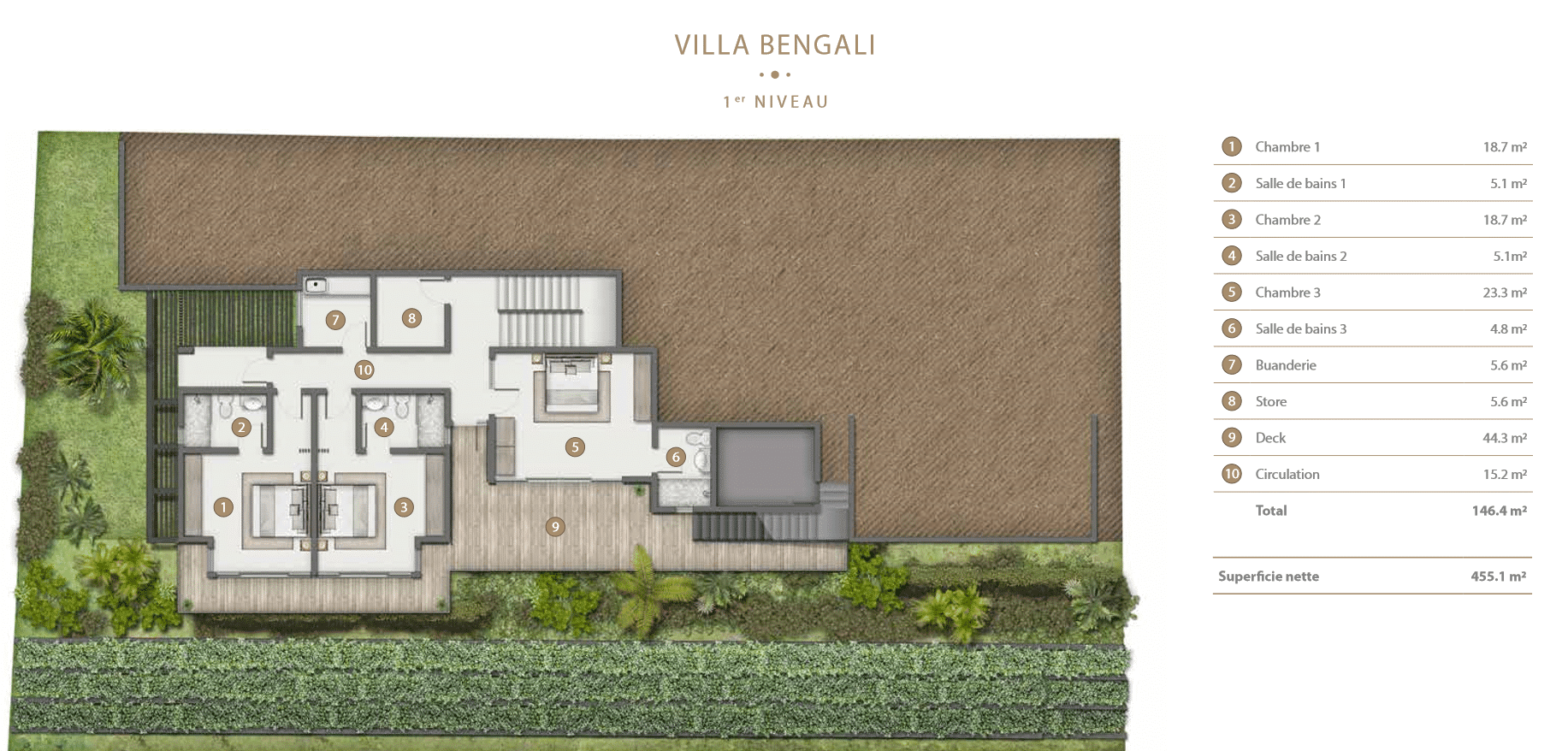 Villa Bengali Legend Hill Ile Maurice