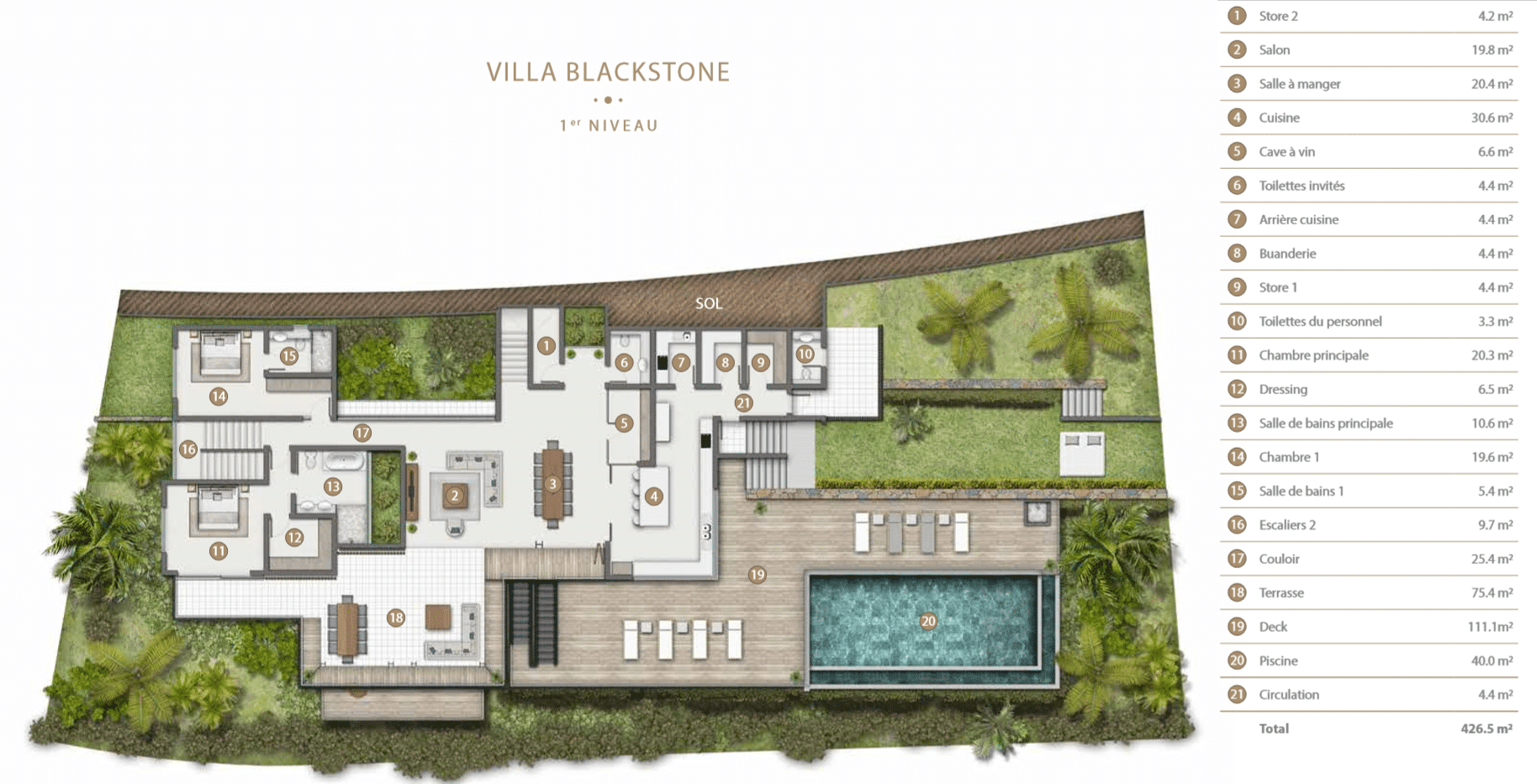 Villa Blackstone Legend Hill Ile Maurice
