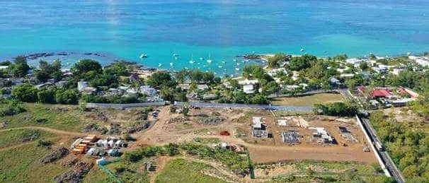 cap marina construction - vue du ciel - investir ile maurice