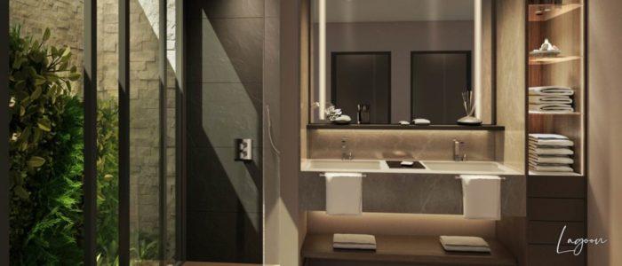 salle de bain villa lagoon - cap marina - investir ile maurice