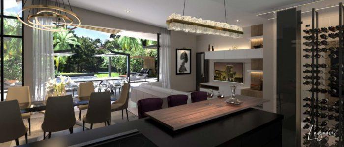 salle a manger villa lagoon - cap marina - investir ile maurice