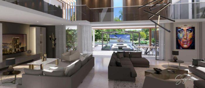 salle a manger villa signature - cap marina - investir ile maurice