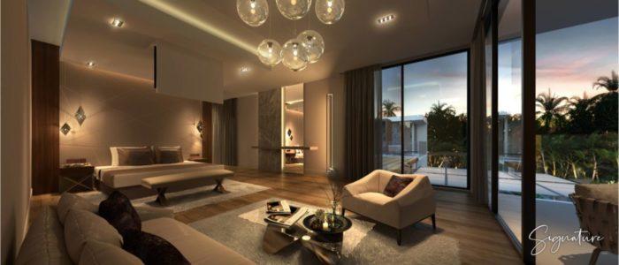 chambre villa signature - cap marina - investir ile maurice