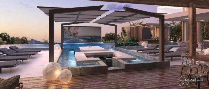 piscine villa signature - cap marina - investir ile maurice